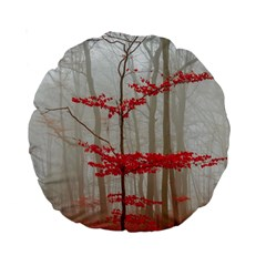 Magic Forest In Red And White Standard 15  Premium Round Cushions