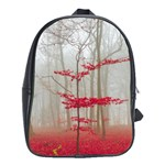 Magic Forest In Red And White School Bags (XL)  Front