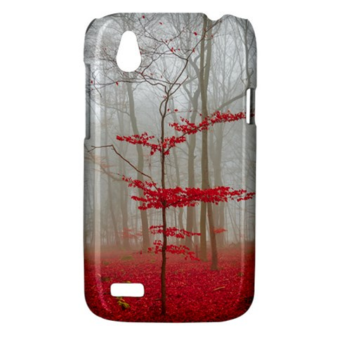Magic Forest In Red And White HTC Desire V (T328W) Hardshell Case
