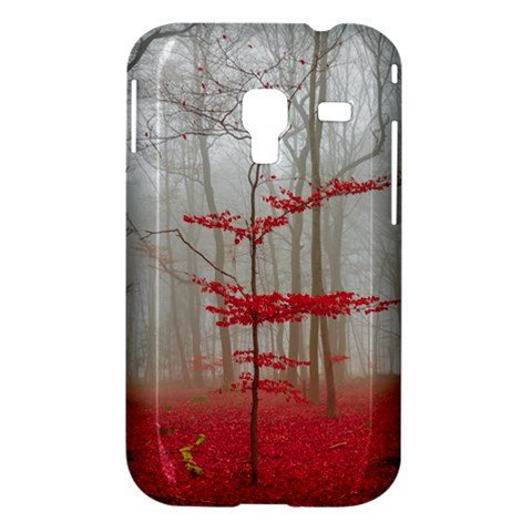 Magic Forest In Red And White Samsung Galaxy Ace Plus S7500 Hardshell Case