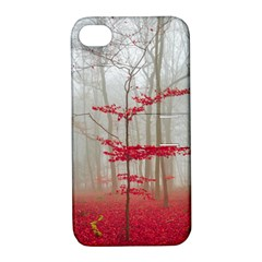 Magic Forest In Red And White Apple iPhone 4/4S Hardshell Case with Stand