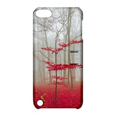 Magic Forest In Red And White Apple Ipod Touch 5 Hardshell Case With Stand