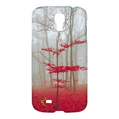 Magic Forest In Red And White Samsung Galaxy S4 I9500/I9505 Hardshell Case