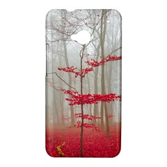 Magic Forest In Red And White HTC One M7 Hardshell Case
