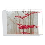 Magic Forest In Red And White 4 x 6  Acrylic Photo Blocks Front