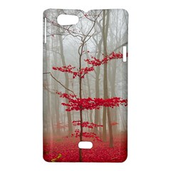 Magic Forest In Red And White Sony Xperia Miro