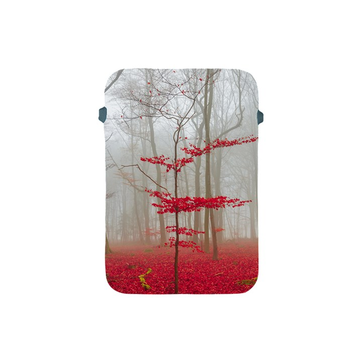 Magic Forest In Red And White Apple iPad Mini Protective Soft Cases