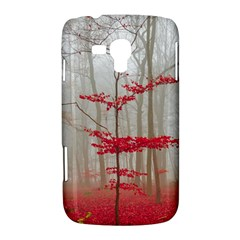 Magic Forest In Red And White Samsung Galaxy Duos I8262 Hardshell Case