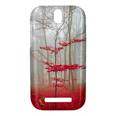 Magic Forest In Red And White HTC One SV Hardshell Case