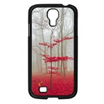Magic Forest In Red And White Samsung Galaxy S4 I9500/ I9505 Case (Black) Front