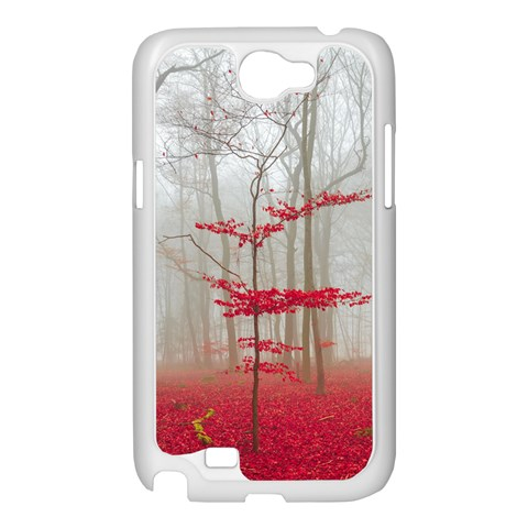 Magic Forest In Red And White Samsung Galaxy Note 2 Case (White)