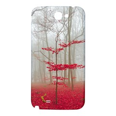 Magic Forest In Red And White Samsung Note 2 N7100 Hardshell Back Case