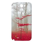 Magic Forest In Red And White Samsung Note 2 N7100 Hardshell Back Case Front