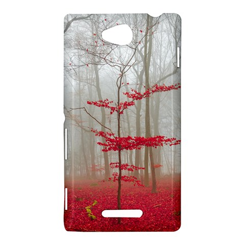 Magic Forest In Red And White Sony Xperia C (S39H)
