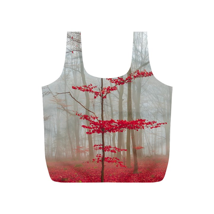 Magic Forest In Red And White Full Print Recycle Bags (S)