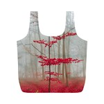 Magic Forest In Red And White Full Print Recycle Bags (M)  Back
