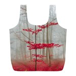Magic Forest In Red And White Full Print Recycle Bags (L)  Back