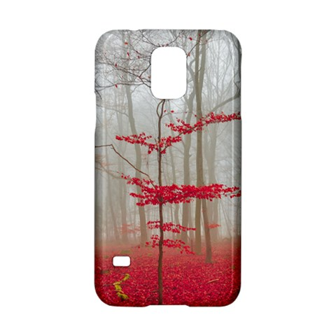 Magic Forest In Red And White Samsung Galaxy S5 Hardshell Case