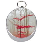 Magic Forest In Red And White Silver Compasses Front