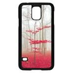 Magic Forest In Red And White Samsung Galaxy S5 Case (Black) Front