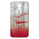 Magic Forest In Red And White Samsung Galaxy S5 Back Case (White) Front
