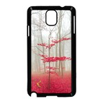 Magic Forest In Red And White Samsung Galaxy Note 3 Neo Hardshell Case (Black) Front