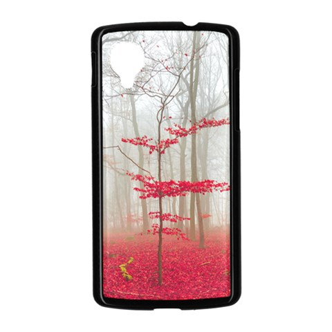 Magic Forest In Red And White Nexus 5 Case (Black)