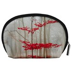 Magic Forest In Red And White Accessory Pouches (Large)  Back