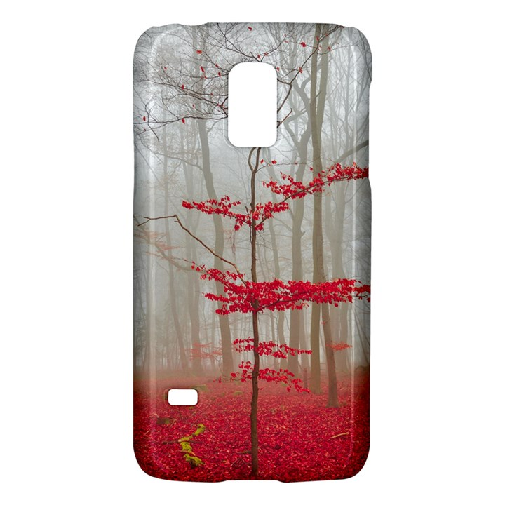 Magic Forest In Red And White Galaxy S5 Mini