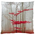 Magic Forest In Red And White Large Flano Cushion Case (Two Sides) Front