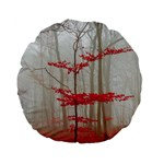 Magic Forest In Red And White Standard 15  Premium Flano Round Cushions Back