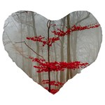Magic Forest In Red And White Large 19  Premium Flano Heart Shape Cushions Front