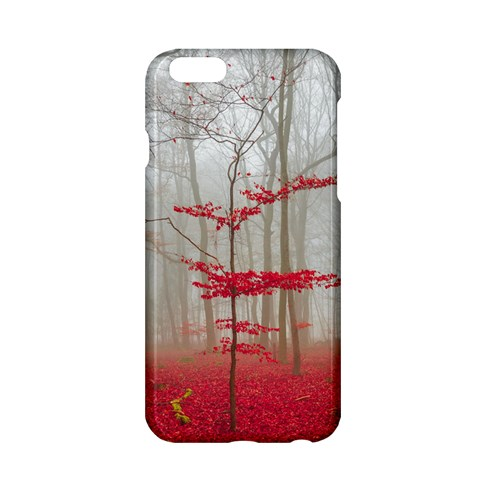 Magic Forest In Red And White Apple iPhone 6/6S Hardshell Case
