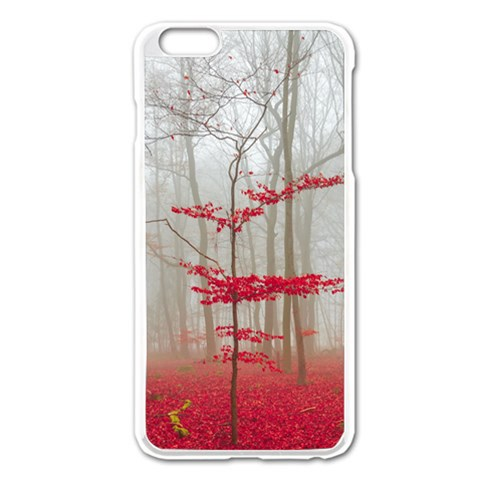Magic Forest In Red And White Apple iPhone 6 Plus/6S Plus Enamel White Case