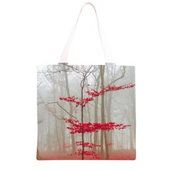 Magic Forest In Red And White Grocery Light Tote Bag