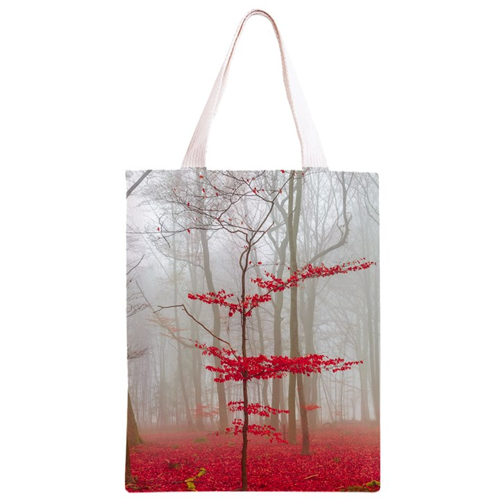 Magic Forest In Red And White Classic Light Tote Bag