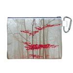 Magic Forest In Red And White Canvas Cosmetic Bag (XL) Back
