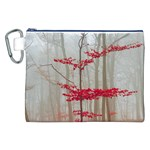 Magic Forest In Red And White Canvas Cosmetic Bag (XXL) Front