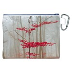 Magic Forest In Red And White Canvas Cosmetic Bag (XXL) Back