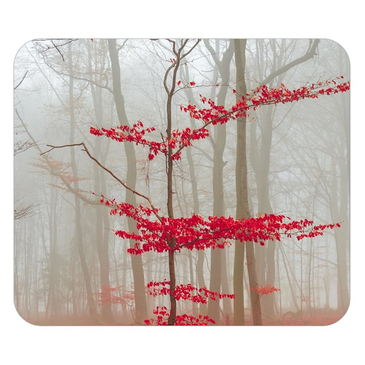 Magic Forest In Red And White Double Sided Flano Blanket (Small)