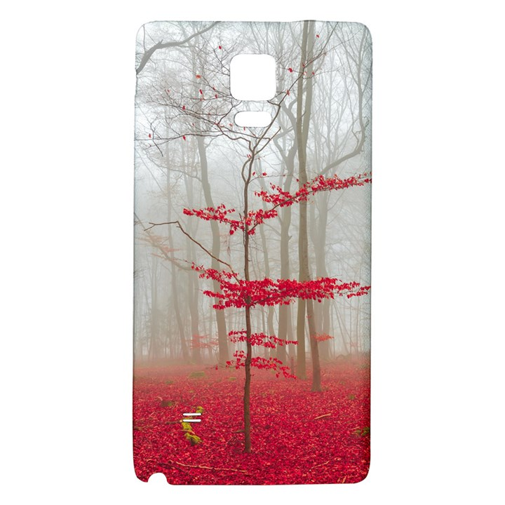 Magic Forest In Red And White Galaxy Note 4 Back Case