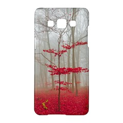 Magic Forest In Red And White Samsung Galaxy A5 Hardshell Case