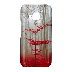 Magic Forest In Red And White HTC One M9 Hardshell Case