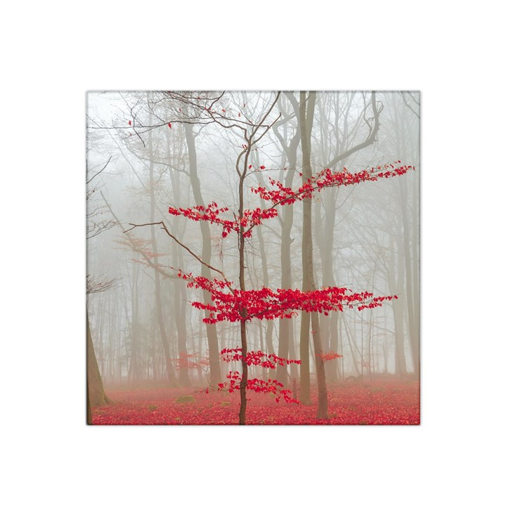 Magic Forest In Red And White Satin Bandana Scarf