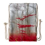 Magic Forest In Red And White Drawstring Bag (Large) Front