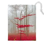Magic Forest In Red And White Drawstring Pouches (XXL) Front
