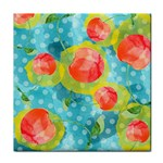 Red Cherries Tile Coasters Front