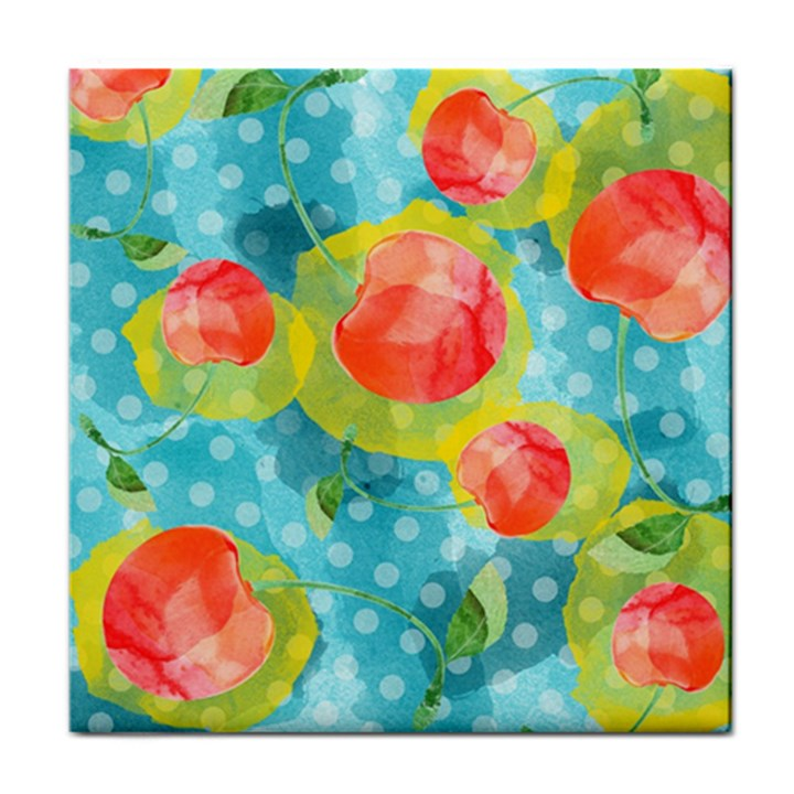Red Cherries Tile Coasters
