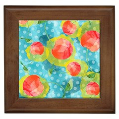 Red Cherries Framed Tiles
