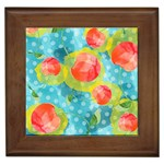 Red Cherries Framed Tiles Front